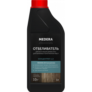 Отбеливатель для древесины Medera 20 Концентрат 1/2  2000-1  (1л)