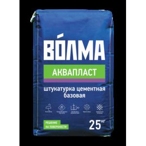 Волма Аквапласт Штукатурная смесь цементная 25 кг