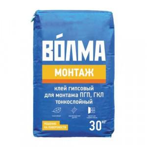 Клей Волма-Монтаж для монтажа ПГП, ГКЛ, ГВЛ 30 кг