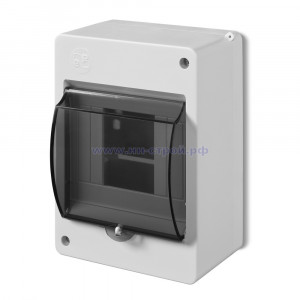Бокс для 4 автоматов ОУ с прозрачной крышкой IEK