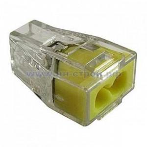 Клемма Wago 773-322 пружинная 2x2,5 кв мм прозрачная (Cu) (упаковка 100шт)