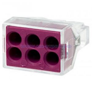 Клемма Wago 773-326 пружинная 6x2,5 кв мм прозрачная (Cu) (упаковка 50шт)