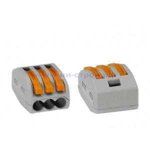 Клемма соединительная для коммутационных коробок 3x0,08-4/2,5 мм2  Wago 222-413