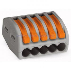 Клемма соединительная для коммутационных коробок 5x0,08-4/2,5 мм2  Wago 222-415
