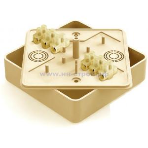 Коробка распаячная ОП 75х75х28мм СОСНА с контактной группой 6 клемм