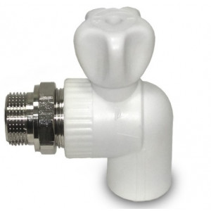 Кран шаровый для радиатора угловой 20х1/2 (vostok)