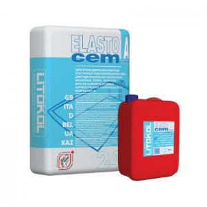 Гидроизоляция двухкомпонентная ELASTOcem A (24кг)