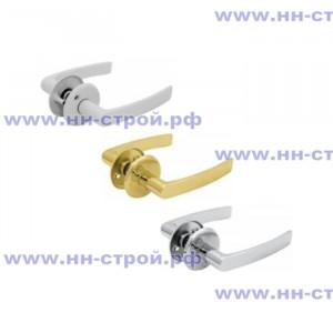 Ручка для двери ШЛОСС 006 белый / хром / золото
