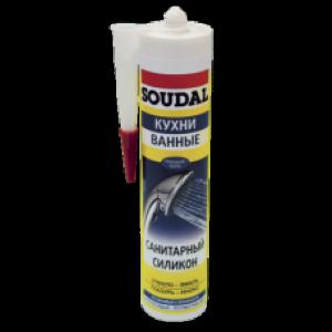 Герметик SOUDAL санитарный силикон 300мл