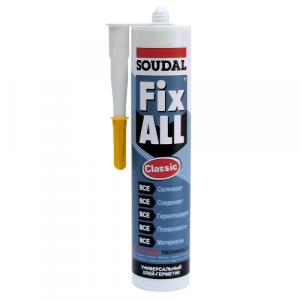 КЛЕЙ-герметик SOUDAL Fix All эластичный гибридный белый (290мл)