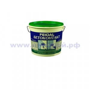 Грунтовка Бетонконтакт (5кг) FEIDAL морозостойкая
