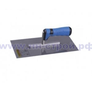 Гладилка нержавеющая с двухкомпонентной ручкой 130х280мм ПРОФИ