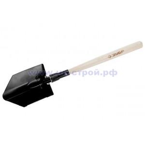 Лопата саперная стальная складная туристическая с защитным чехлом ЗУБР МАСТЕР 210х145х620/450мм
