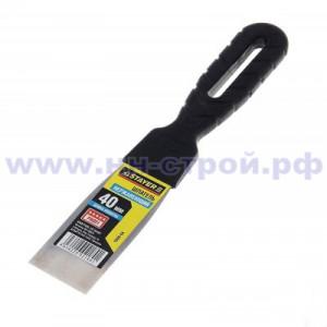 Шпатель нержавеющий с пластмассовой ручкой 40мм