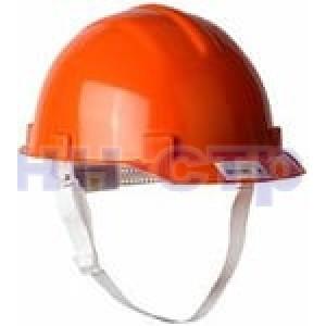 Каска защитная с тканевой амортизационной вставкой цвет оранжевый