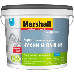Маршал Marshall BW латексная для Кухни и Ванной матовая (4.5л)