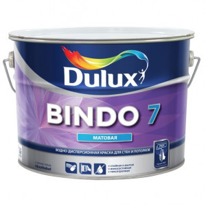 Краска латексная БИНДО 7 (9л) моющаяся Dulux Bindo 7 BW