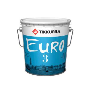 Краска латексная ТИККУРИЛА EURO MATT 3 база C Матовая(2,7л)