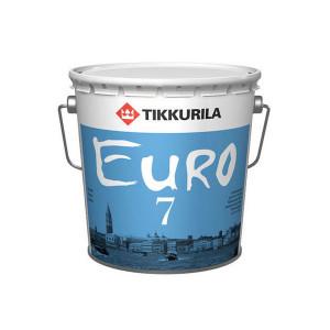 Краска латексная ТИККУРИЛА 7 база C стойкая к мытью Матовая (2,7л)