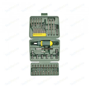 Набор KRAFTOOL отвертка реверсивная с битами и торцевыми головками 50 предметов
