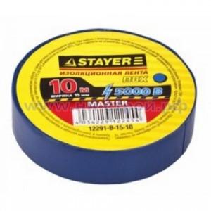 Изолента синяя ПВХ 15мм х 10м STAYER МАСТЕР