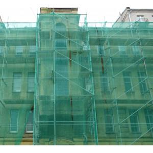 Сетка фасадная для укрытия строительных лесов OXISS 3х100м (35гр/м2)
