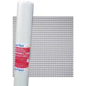 Сетка фасадная Стеклосетка Крепикс 1500 БауТекс 5х5мм (1х50м) 140гр/м2