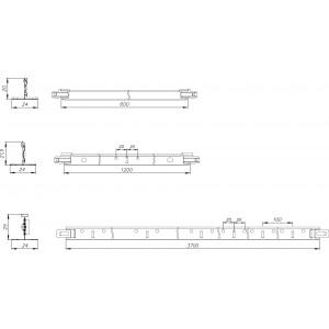 Направляющая для подвесного потолка 1,2м белая Албес Т-24