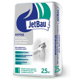 Декоративная штукатурка JetBau «КОРОЕД 2мм Белый» 25кг ГОСТ Р 54358-2017