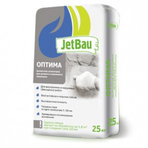 JetBau штукатурка «Оптима» 25кг ГОСТ 33083-2014