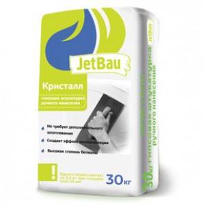 JetBau Гипсовая штукатурка ручного нанесения КРИСТАЛЛ Белая 30кг ГОСТ 31377-2008