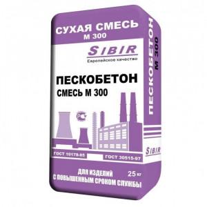 Пескобетон М300 Сибирь Sibir 25 кг ГОСТ