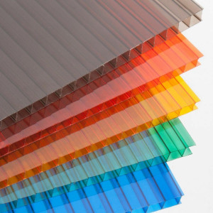 Сотовый поликарбонат Polyplast 4 мм ЦВЕТНОЙ (лист 2,1х12м) (1м.пог.)