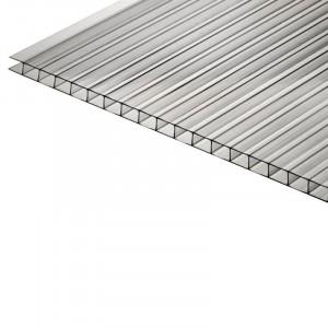 Сотовый поликарбонат Polyplast 4 мм (лист 2,1х12м) (1м.пог.)