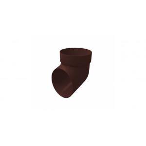 Колено сливное ПВХ Grand Line Стандарт Шоколадный
