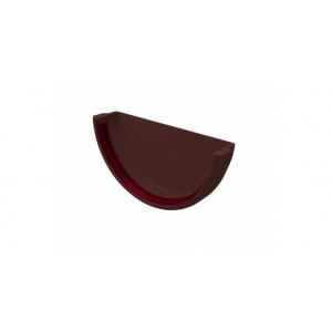 Заглушка желоба универсальная ПВХ Grand Line Стандарт Шоколадный