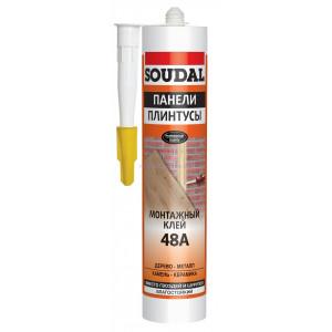 Клей для стеновых панелей и плинтусов каучуковый SOUDAL 48А 300мл